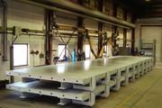 Столы для изготовления стеновых бетонных панелей.