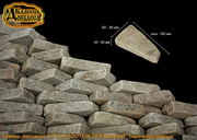 Камень песчаник Утес колотый,  окатанный